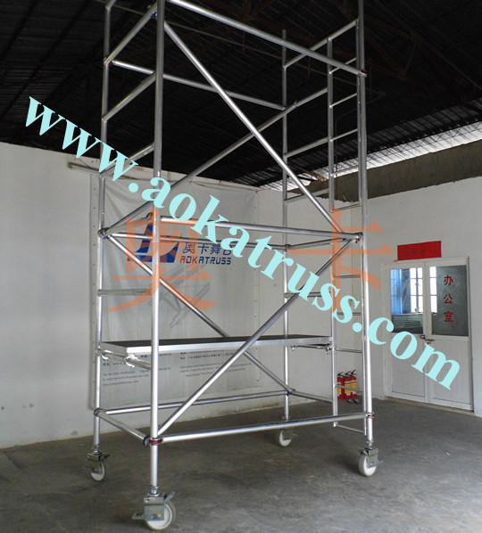 aluminum scaffolding with wheels
